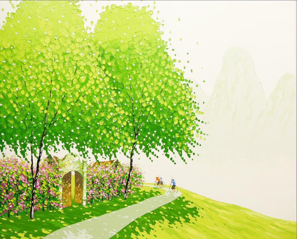 Яркие пейзажи Вьетнама на картинах Phan Thu Trang6