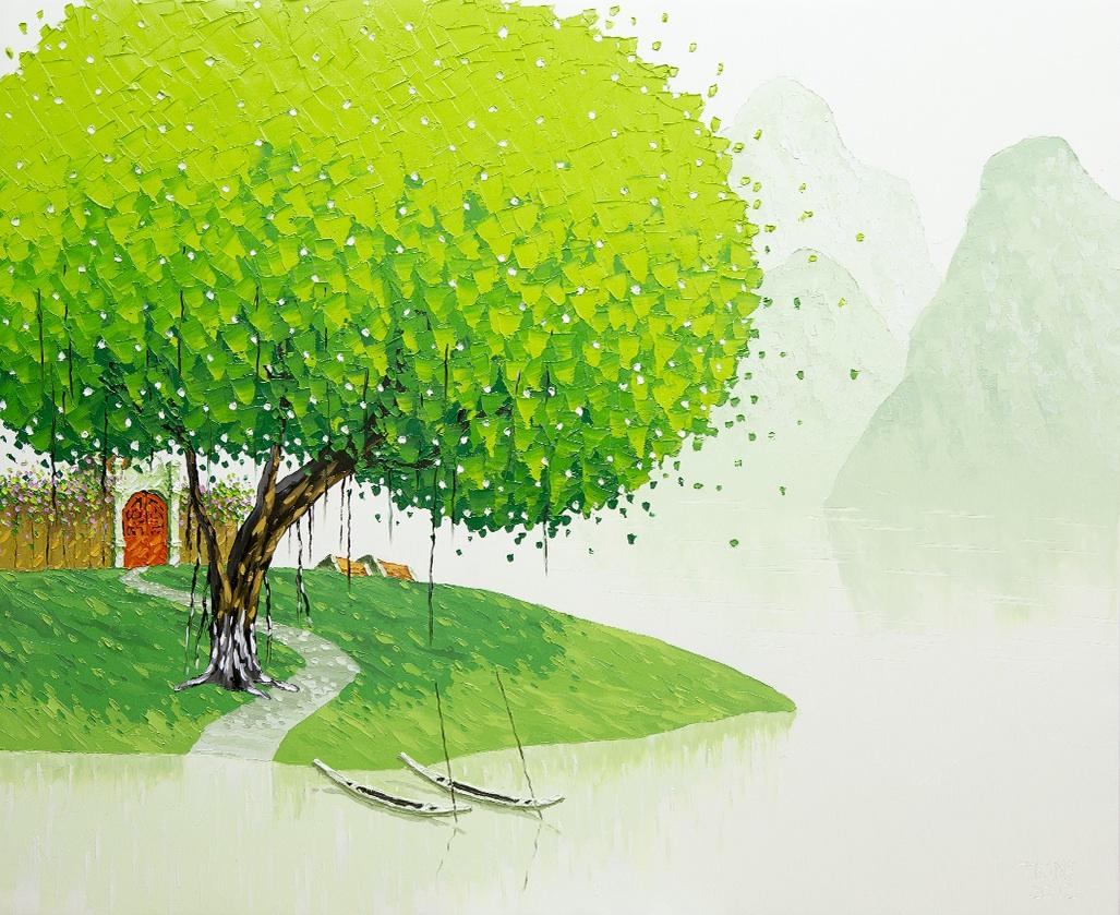 Яркие пейзажи Вьетнама на картинах Phan Thu Trang7