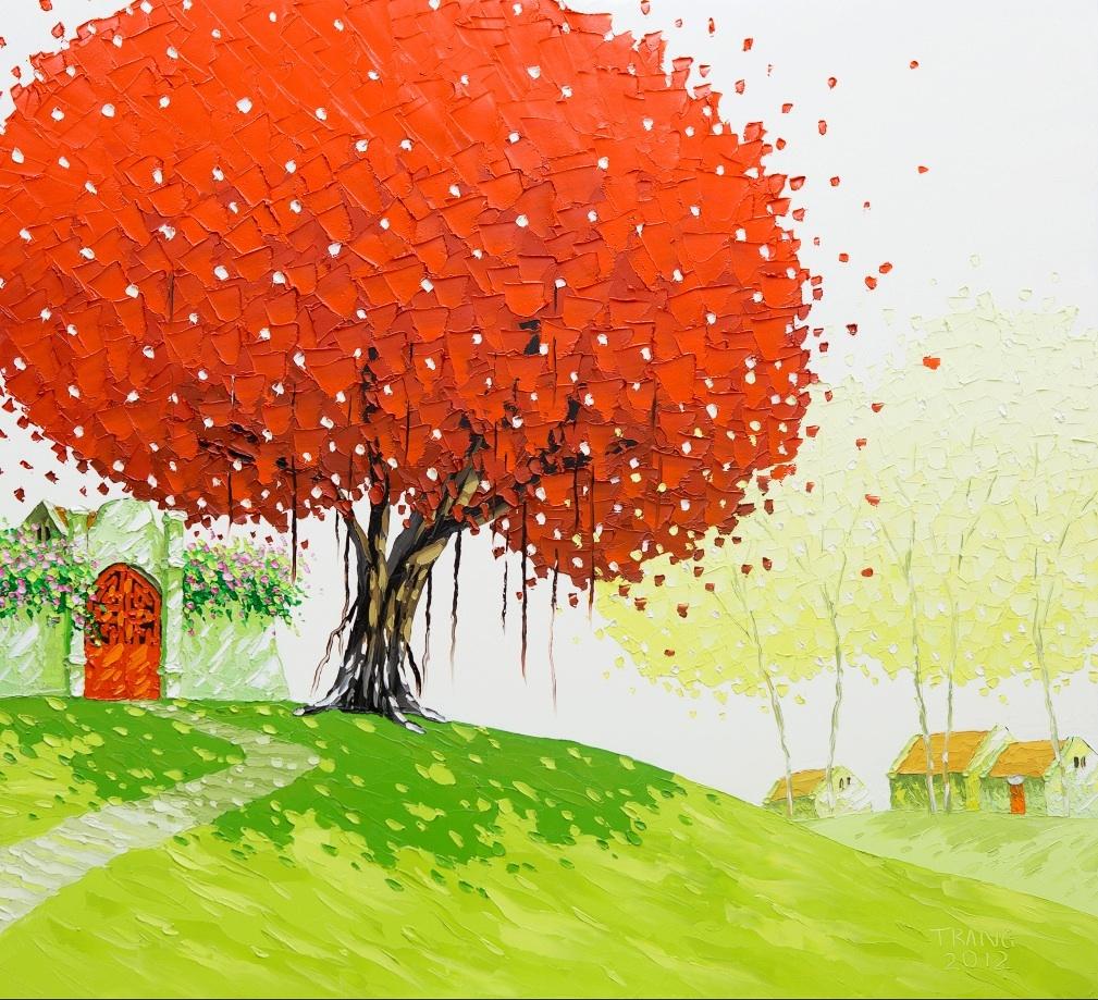 Яркие пейзажи Вьетнама на картинах Phan Thu Trang8