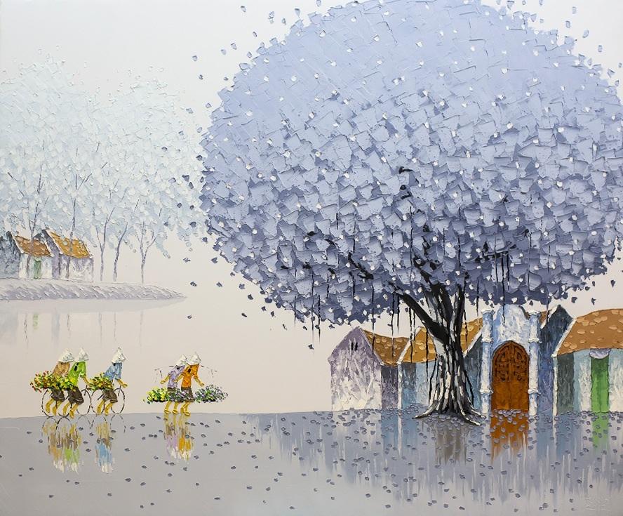 Яркие пейзажи Вьетнама на картинах Phan Thu Trang9