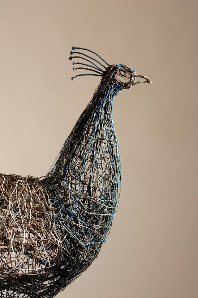 Скульптуры птиц из проводов-2