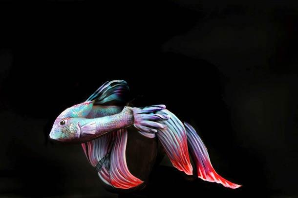 Боди-арт рисунки Gesine Marwedel 2