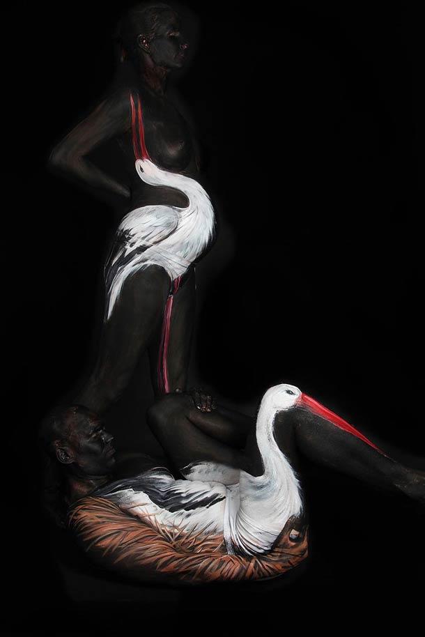 Боди-арт рисунки Gesine Marwedel 3