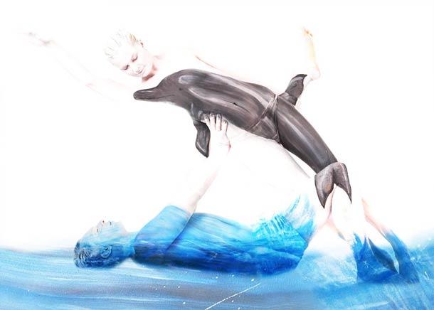Боди-арт рисунки Gesine Marwedel 4
