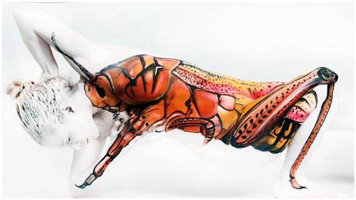 Боди-арт рисунки Gesine Marwedel