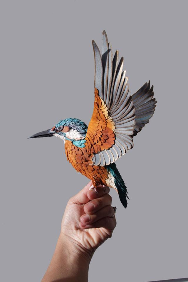 Бумажные скульптуры птиц Diana Beltran Herrera 11