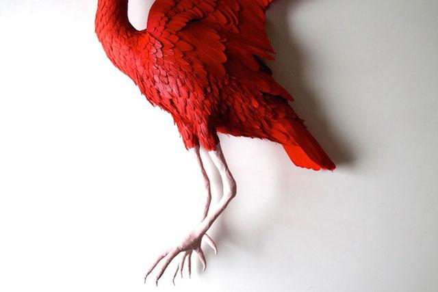 Бумажные скульптуры птиц Diana Beltran Herrera 12