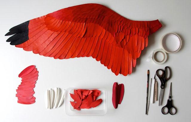 Бумажные скульптуры птиц Diana Beltran Herrera 13