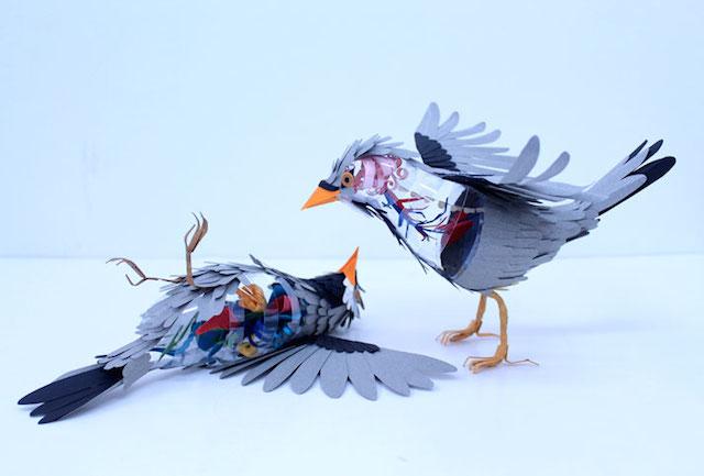 Бумажные скульптуры птиц Diana Beltran Herrera 16