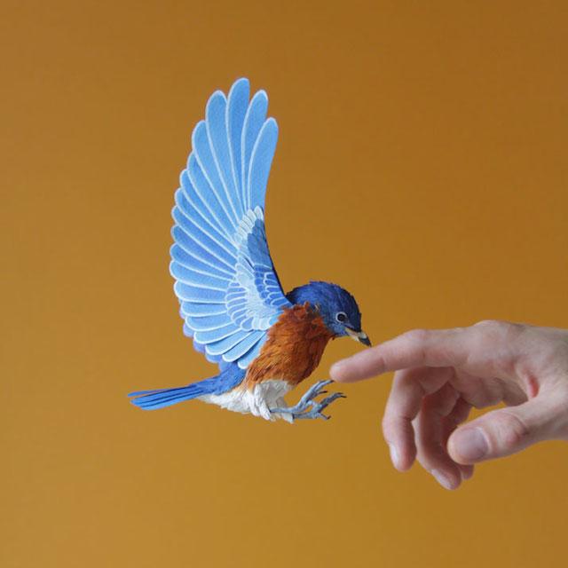 Бумажные скульптуры птиц Diana Beltran Herrera 7