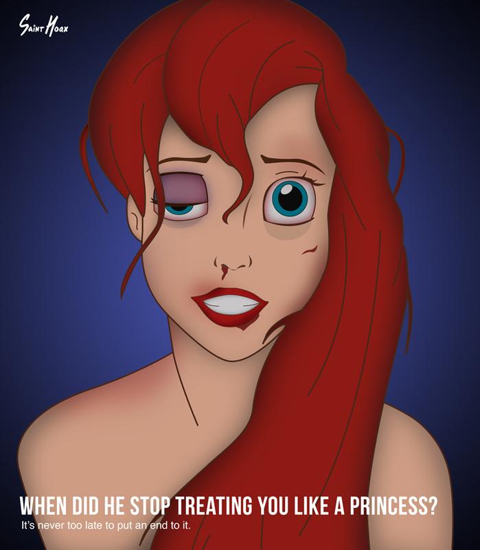 Принцессы Диснея – жертвы бытового насилия 3
