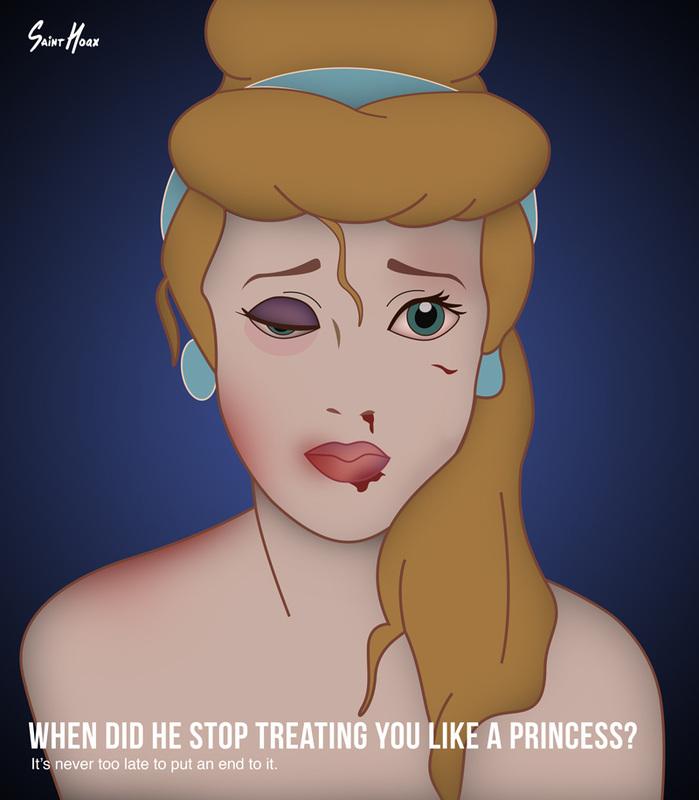 Принцессы Диснея – жертвы бытового насилия 4