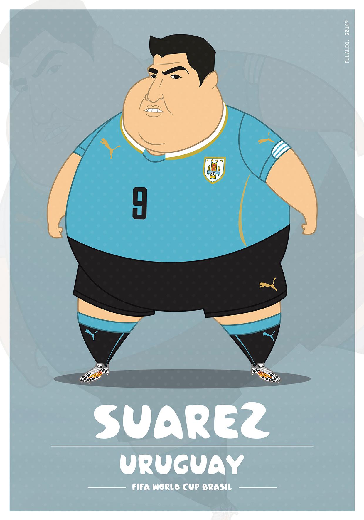 Толстые футболисты чемпионата мира в Бразилии 13