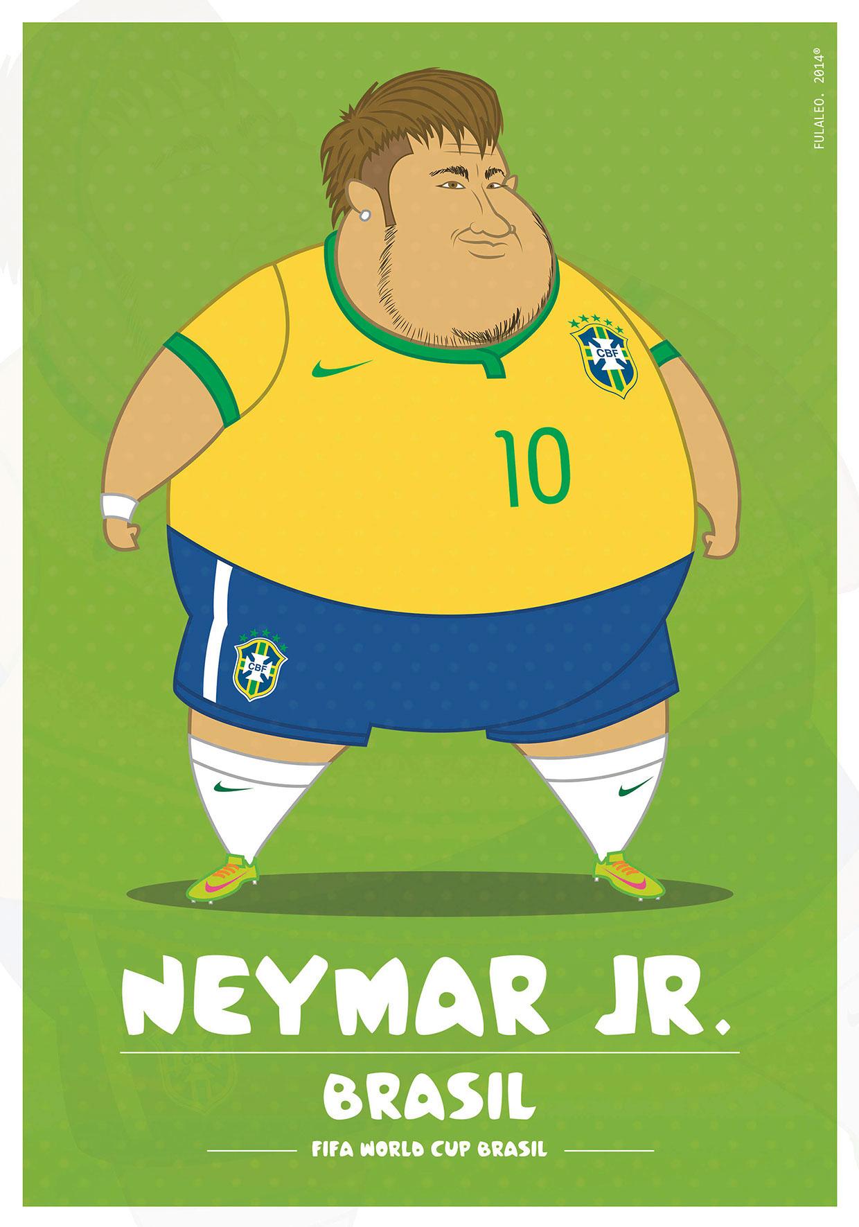 Толстые футболисты чемпионата мира в Бразилии 8