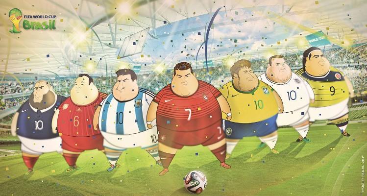 Толстые футболисты чемпионата мира в Бразилии