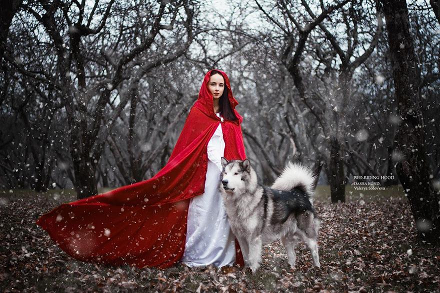 Сказочные сцены с настоящими животными, снятые русским фотографом Дарьей Кондратьевой 1