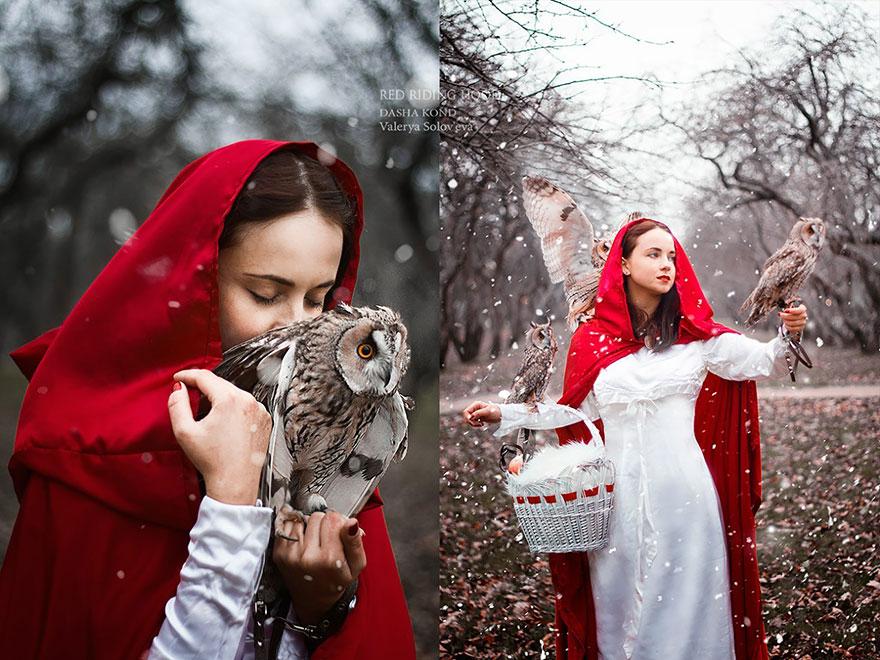 Сказочные сцены с настоящими животными, снятые русским фотографом Дарьей Кондратьевой 2