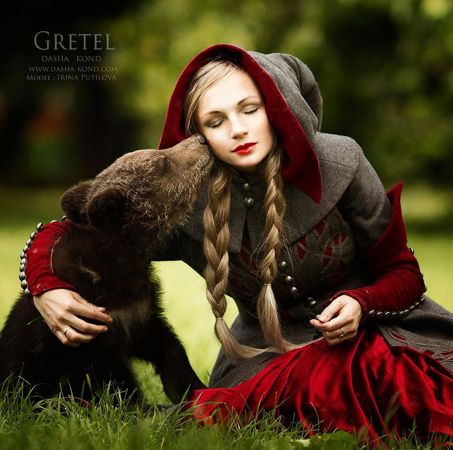 Сказочные сцены с настоящими животными, снятые русским фотографом Дарьей Кондратьевой 4