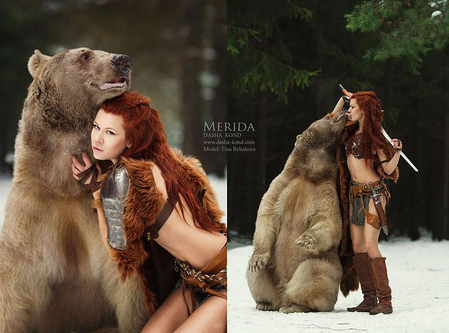 Сказочные сцены с настоящими животными, снятые русским фотографом Дарьей Кондратьевой 5