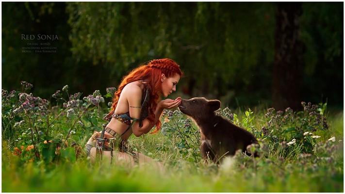 Сказочные сцены с настоящими животными, снятые русским фотографом Дарьей Кондратьевой