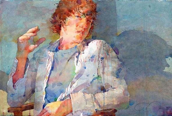 Фигуративная живопись художника-акварелиста Ted Nuttall 18