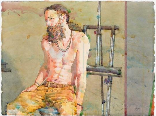Фигуративная живопись художника-акварелиста Ted Nuttall 32