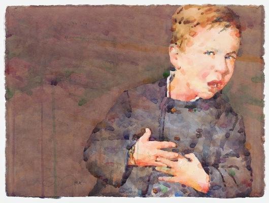 Фигуративная живопись художника-акварелиста Ted Nuttall 38
