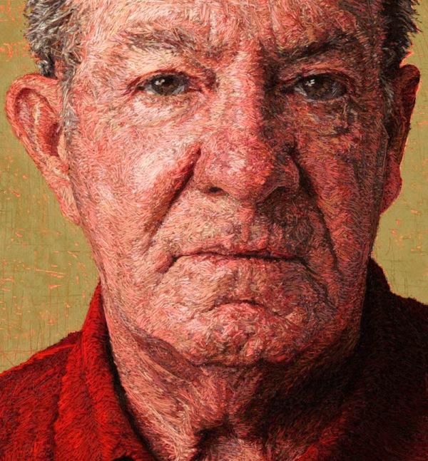 Вышитые портреты от Кейси Завалия 9