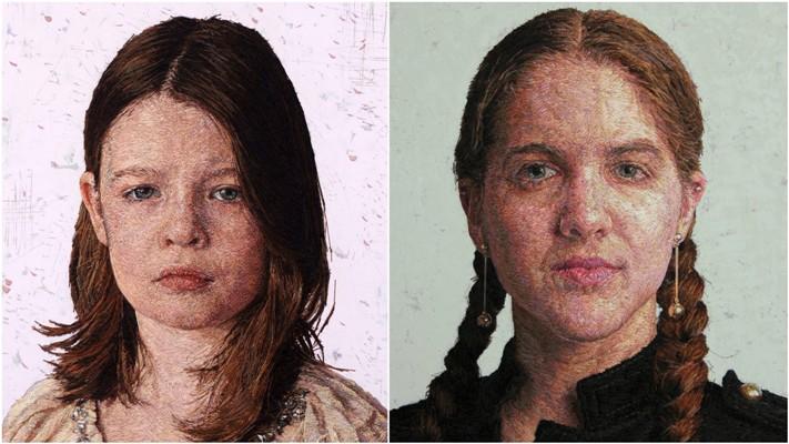 Вышитые портреты от Кейси Завалия