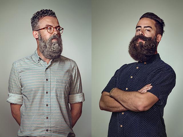 Портреты хипстеров с бородами 1