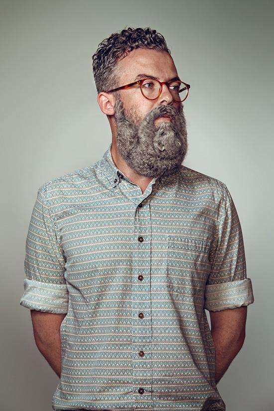 Портреты хипстеров с бородами 2