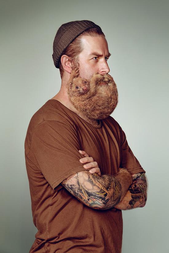 Портреты хипстеров с бородами 3