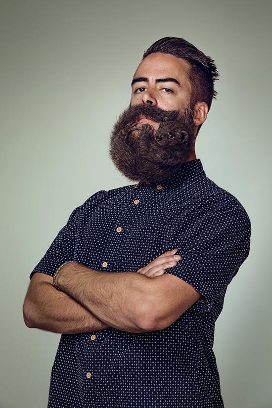 Портреты хипстеров с бородами 4