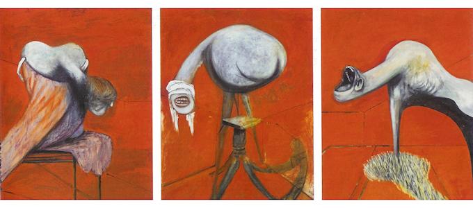 Три этюда фигур у подножия Распятия
