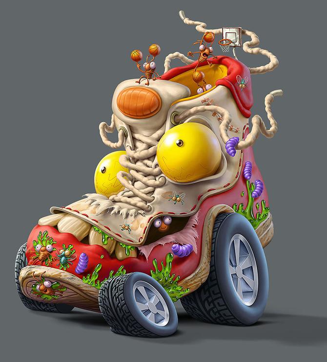 Мусор на колесах от художника Оскара Рамоса 1