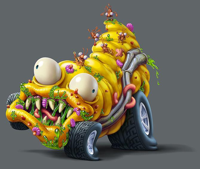 Мусор на колесах от художника Оскара Рамоса 10