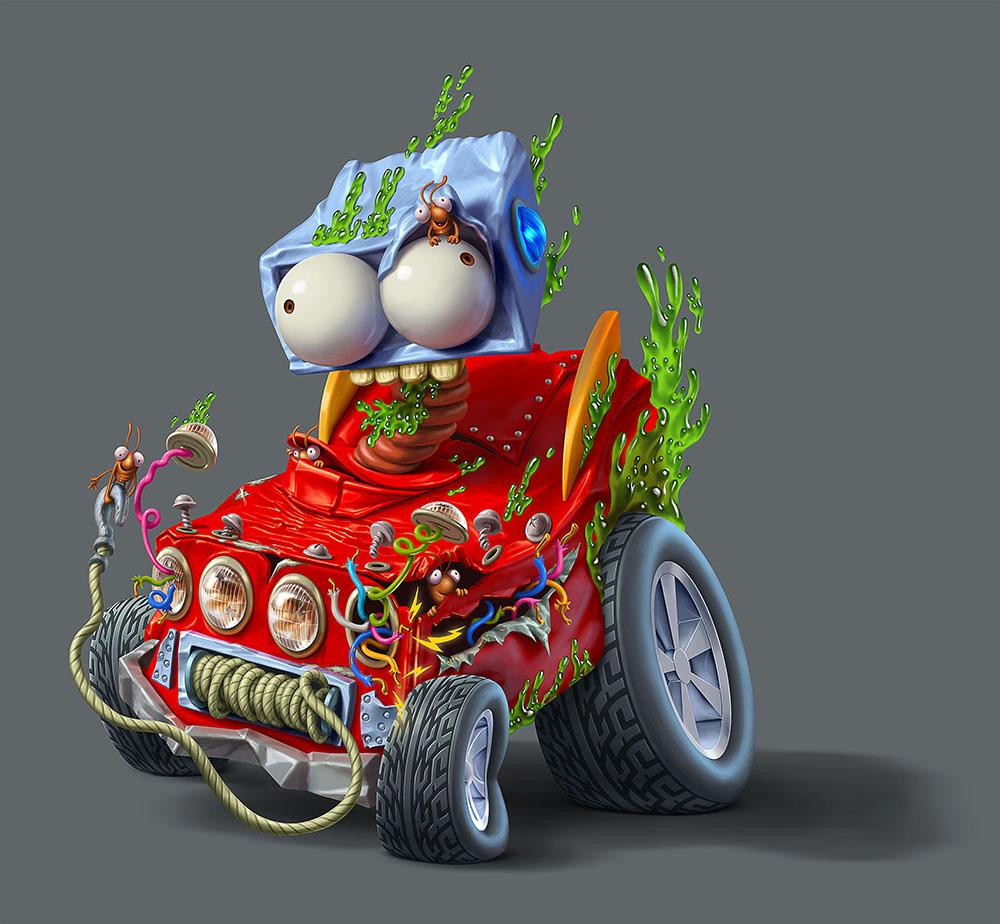 Мусор на колесах от художника Оскара Рамоса 11