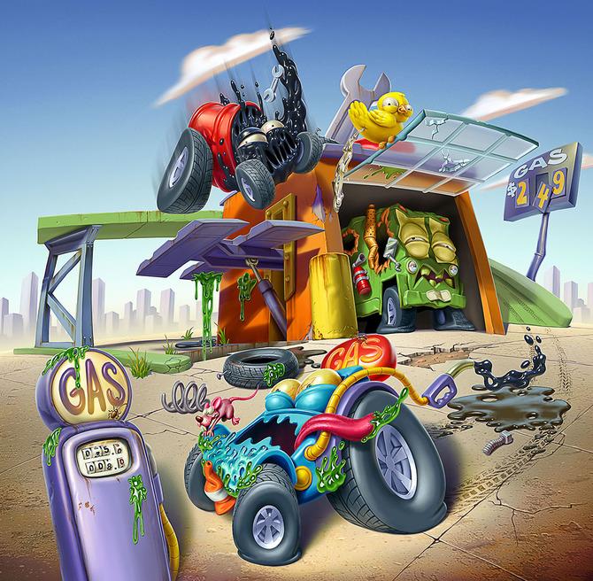 Мусор на колесах от художника Оскара Рамоса 13