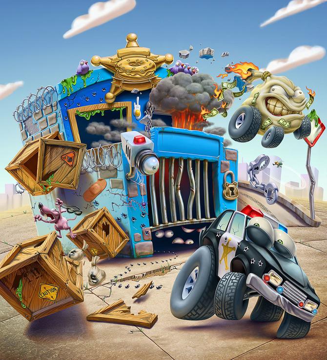 Мусор на колесах от художника Оскара Рамоса 14