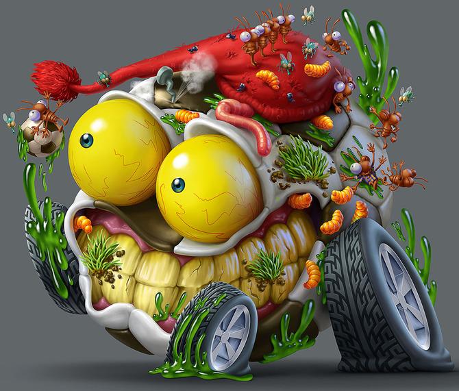 Мусор на колесах от художника Оскара Рамоса 15