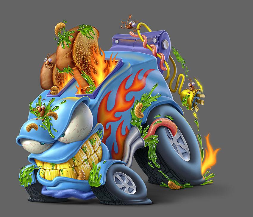 Мусор на колесах от художника Оскара Рамоса 2