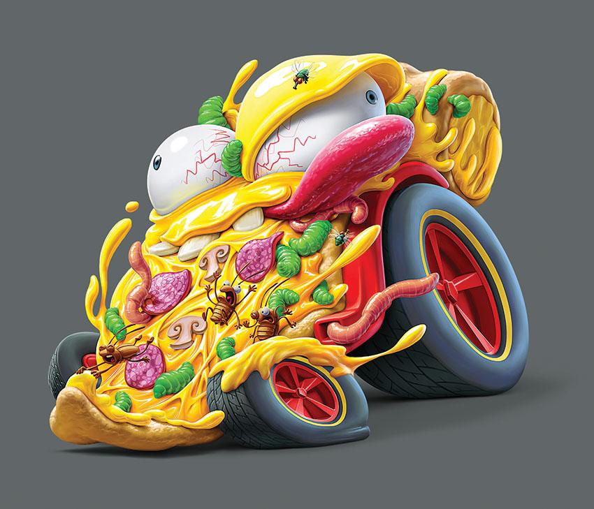 Мусор на колесах от художника Оскара Рамоса 3