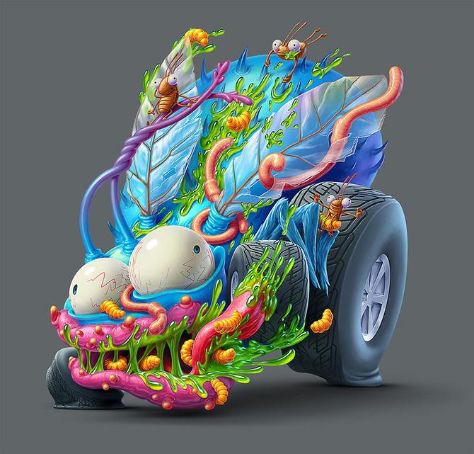 Мусор на колесах от художника Оскара Рамоса 5