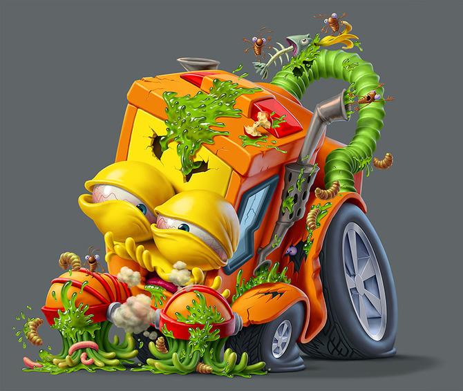 Мусор на колесах от художника Оскара Рамоса 6