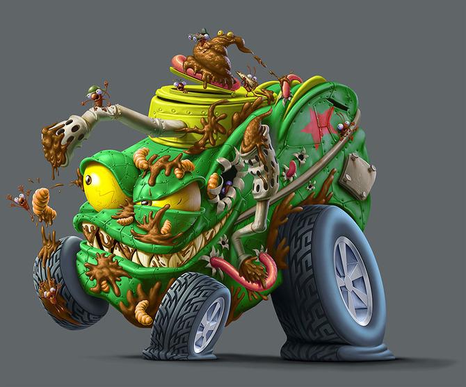 Мусор на колесах от художника Оскара Рамоса 7