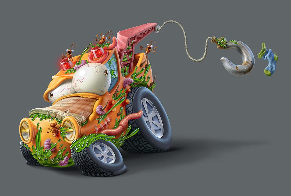 Мусор на колесах от художника Оскара Рамоса 8