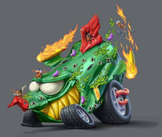 Мусор на колесах от художника Оскара Рамоса 9