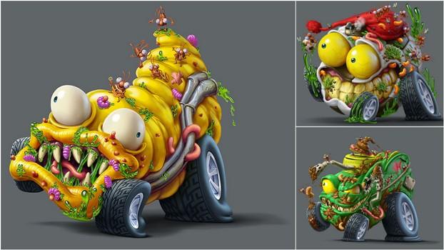 Мусор на колесах от художника Оскара Рамоса