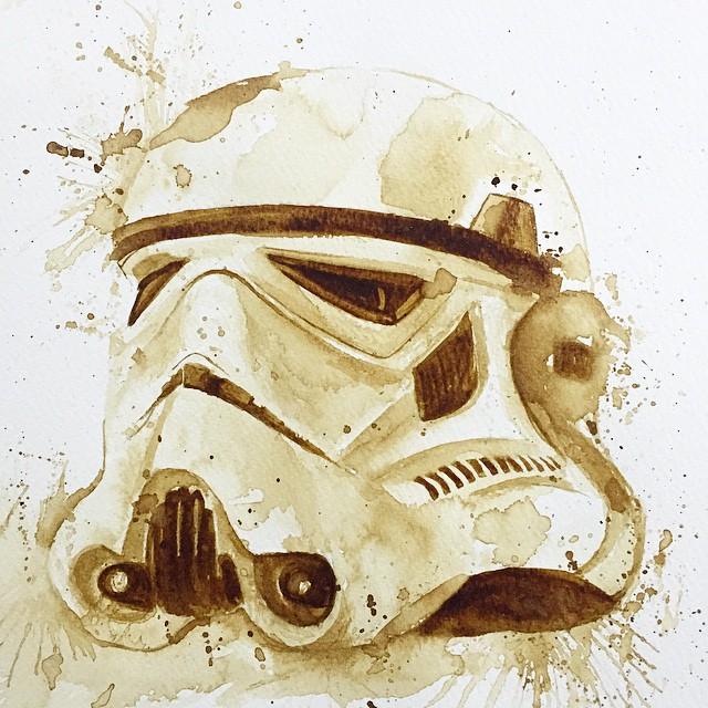 Невероятные рисунки, выполненные с  помощью кофе 1