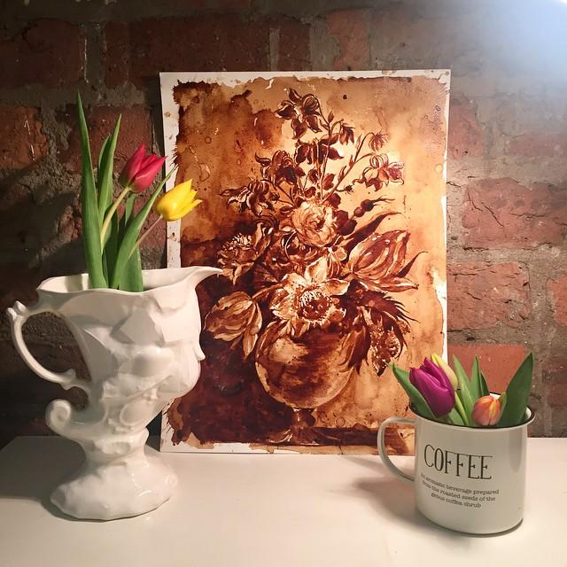 Невероятные рисунки, выполненные с  помощью кофе 10